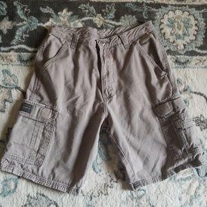Wrangler originals gray cargo shorts size 30